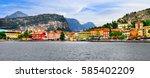 alpine scenery   beautiful lake ... | Shutterstock . vector #585402209