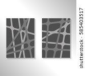 brochure abstract design... | Shutterstock .eps vector #585403517