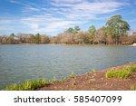 houston hermann park... | Shutterstock . vector #585407099