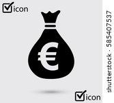 euro eur currency symbol. flat...