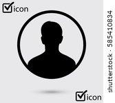 user sign icon. person symbol.... | Shutterstock .eps vector #585410834