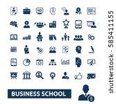 business school icons  | Shutterstock .eps vector #585411155