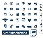 correspondence icons | Shutterstock .eps vector #585411194