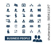 business people icons | Shutterstock .eps vector #585411197