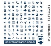 information technology icons  | Shutterstock .eps vector #585411251