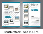 business brochure template.... | Shutterstock .eps vector #585411671