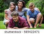 portrait of happy family...   Shutterstock . vector #585422471