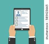 curriculum vitae cv resume...   Shutterstock .eps vector #585423665