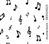 seamless pattern with music...