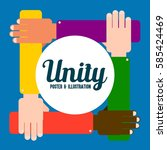 unity concept poster | Shutterstock .eps vector #585424469