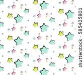 vector star pattern. abstract...   Shutterstock .eps vector #585425801
