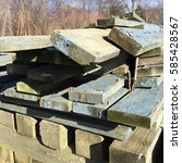 reclaimed wood | Shutterstock . vector #585428567