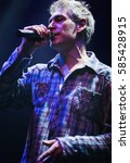 Small photo of MOSCOW - 7 DECEMBER,2014: Concert of popular rap reggae singer Matisyahu in night club.Famous rapper sing on scene.Bright concert lighting on stage.Adult night life entertainment event
