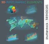 3d infographic elements | Shutterstock .eps vector #585430181