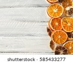 white wooden background with... | Shutterstock . vector #585433277
