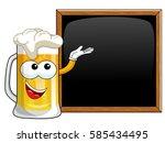 cartoon beer mug presenting... | Shutterstock .eps vector #585434495
