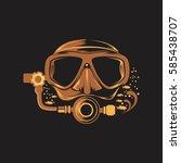 scuba diving | Shutterstock .eps vector #585438707