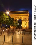 arc de triomphe and ghost of... | Shutterstock . vector #58544110