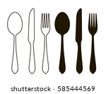 table setting  tableware.... | Shutterstock .eps vector #585444569
