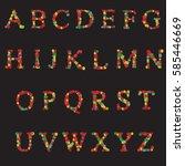 flower alphabet made of flowers ...