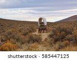 Oregon trail covered wagon. the ...