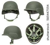 Green Khaki Military Helmet Isolated - Fine Art prints