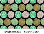 raster vintage design. floral... | Shutterstock . vector #585448154