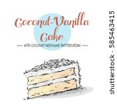 Isolated Tasty Cake. Sketch An...