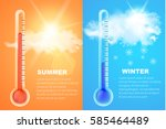 Thermometers Icons With High...