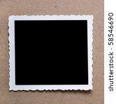 vintage blank photograph frame ...   Shutterstock . vector #58546690