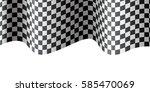 checkered flag wave on white... | Shutterstock .eps vector #585470069