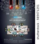 infograph brochure template... | Shutterstock .eps vector #585471251