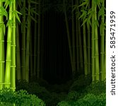 background bamboo forest at... | Shutterstock . vector #585471959