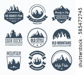 mountain badges and labels in... | Shutterstock .eps vector #585472745