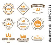 crown badges and labels in... | Shutterstock .eps vector #585472751