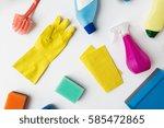 housework  housekeeping and...   Shutterstock . vector #585472865
