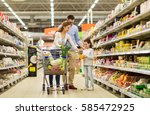 sale  consumerism and people... | Shutterstock . vector #585472925
