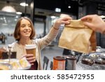 small business  takeaway food ... | Shutterstock . vector #585472955