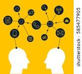people share data via various...   Shutterstock .eps vector #585477905