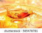 palm oil background   palm oil... | Shutterstock . vector #585478781