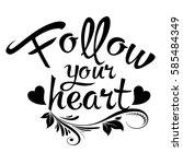 follow your heart. vintage...
