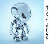 futuristic bbot robot looking... | Shutterstock . vector #585493631