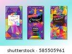 carnival festive posters vector