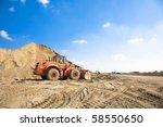 orange excavator on a... | Shutterstock . vector #58550650