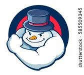 vector stock of snowman with...   Shutterstock .eps vector #585509345