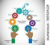 concept of devops  illustrates... | Shutterstock .eps vector #585524129
