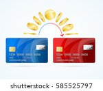 credit plastic card to card... | Shutterstock .eps vector #585525797