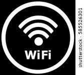 wi fi sign black. vector. | Shutterstock .eps vector #585526301