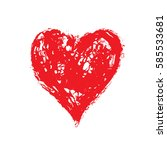 vector grunge heart  valentine... | Shutterstock .eps vector #585533681