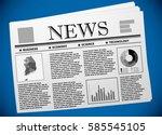 korean business and economy on... | Shutterstock .eps vector #585545105